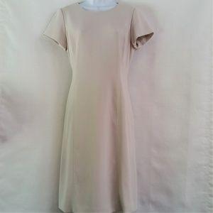 Talbots Ivory Cream Beige Short Sleeve Dress 6